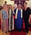 Gail, Pastor Sprague, Darlen, Debbie