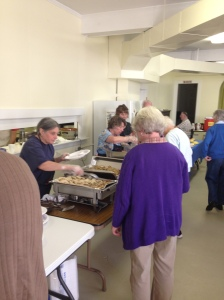 Nancy, Anne and Shelley working on the buffet line!